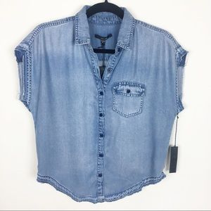 Joe's Jeans Button Down Sleeveless Top Size Small